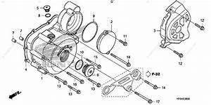 Honda Motorcycle 2008 Oem Parts Diagram For Left Crankcase