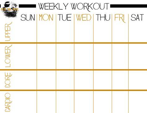 free printable workout plans workout plan templates