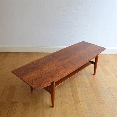 table basse de salon scandinave palissandre 1960s
