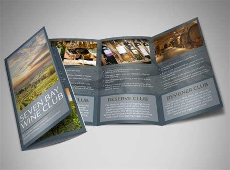Wine Brochure Template Free by Seven Bay Wine Club Tri Fold Brochure Template