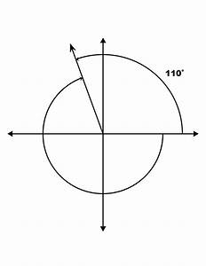 110° and -250° Coterminal Angles | ClipArt ETC
