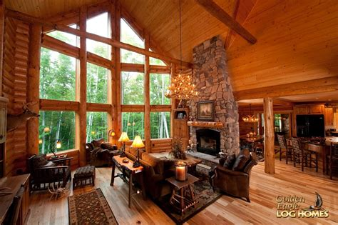 great room house plans one golden eagle log and timber homes log home cabin