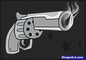 How to Draw an Easy Gun, Step by Step, guns, Weapons, FREE ...