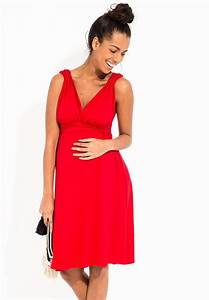 robe grossesse rouge decollete cache coeur coupe cintree With robe grossesse photo