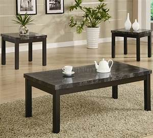 coffee tables ideas modern black marble coffee table set With black coffee table sets sale