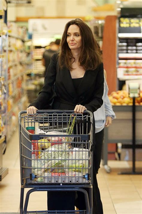 angelina jolie grocery shopping  gelsons markets  los