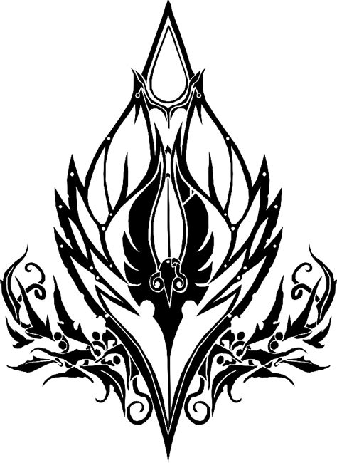 Blood Elf Crest – Vector – the misty teahouse