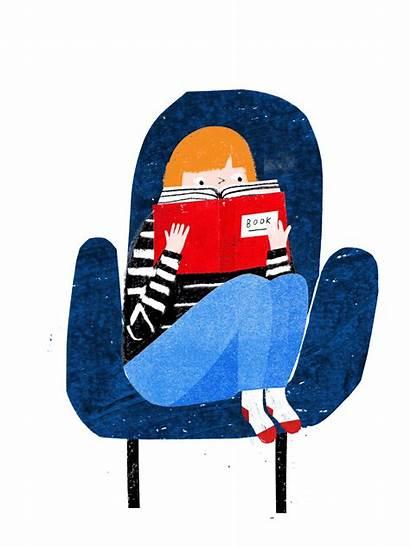 Reading Illustration Buzzfeed Animated Animation Books Read