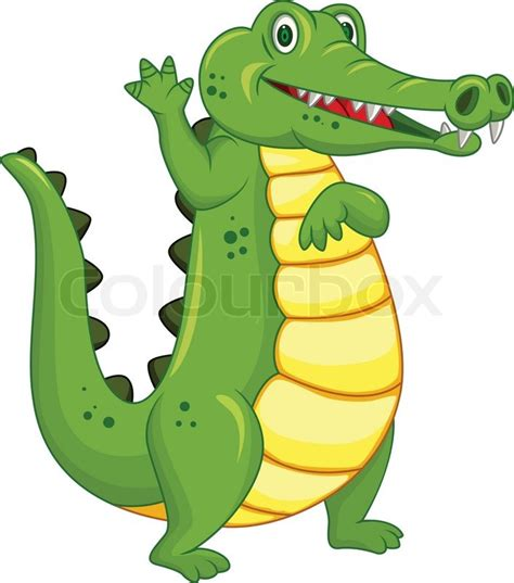 crocodile cartoon stock vector colourbox