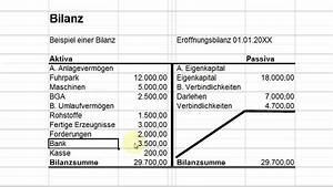 Bilanz Rechnung : rechnungswesen 101 01 die bilanz youtube ~ Themetempest.com Abrechnung