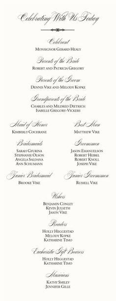 wedding program templates wedding programs