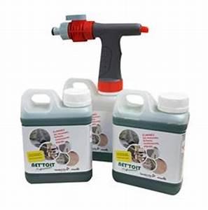 Anti Mousse Et Hydrofuge 2 En 1 : anti mousse toiture net toit pack 2 x 1 litres 1 pistolet ~ Melissatoandfro.com Idées de Décoration