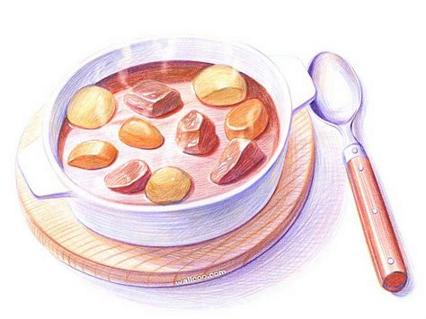 cuisine dwg colored pencil drawings of japanese cuisine and foods 3