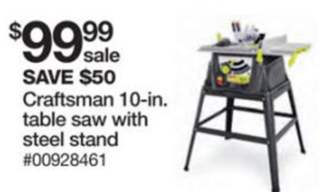 black friday table saw black friday deal craftsman 15 amp 10 in table saw 28461