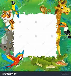 Royalty-free Cartoon safari - jungle - frame border ...