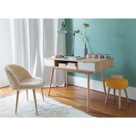 bureau telepeage bureau vintage en bois l 120 cm fjord maisons du monde