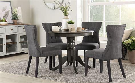 kingston  grey wood dining table   bewley slate