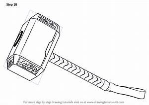 Learn How to Draw Thor's Hammer (Thor) Step by Step ...