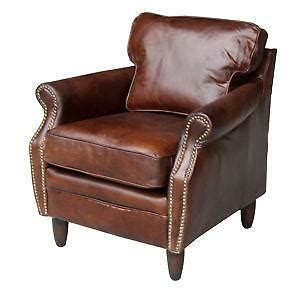 Used Leather Armchair by Leather Club Chair Ebay