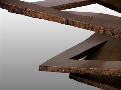 dimensions canapé paire de tables basses en acier déchiré 1970