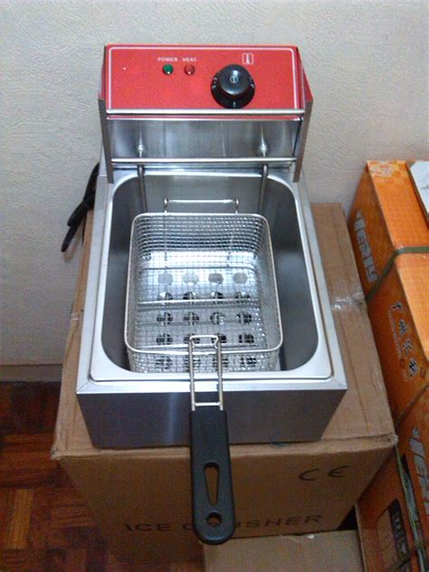 deep fryer electric fryers single liters link capacity duty heavy type utensils