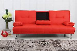 sofa bed red sofa bed red leather izfurniture thesofa With red leather futon sofa bed