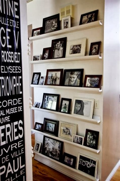 gallery ledge shelves the classy woman 174 photo gallery wall inspiration