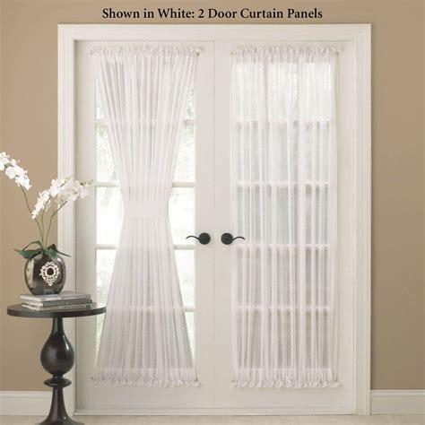 door panel curtains reverie snow voile semi sheer door panels