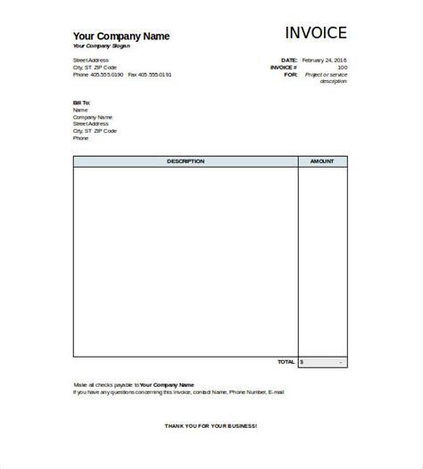 free blank invoice template 28 blank invoice templates free premium templates