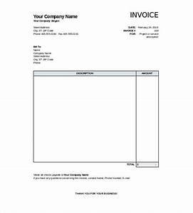 28 blank invoice templates free premium templates With free invoice template printable invoice template excel