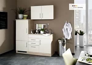 Kühlschrank 160 Cm Hoch : singlek che mit k hlschrank 160 cm hochglanz creme ~ Watch28wear.com Haus und Dekorationen