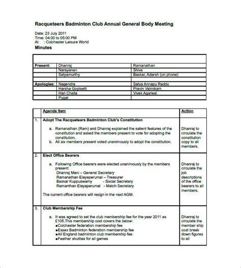 Meeting Minutes Template Meeting Minutes Template Doc Templates Resume Exles