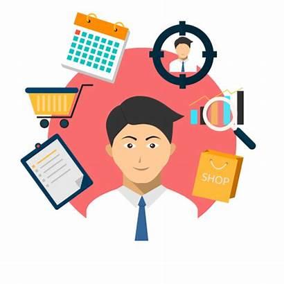 Manager Cartoon Sales Warehouse Clip Retail Job
