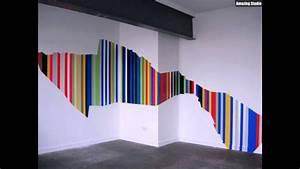 Wand Stellenweise Streichen : asymetrische streifen wand streichen ideen youtube ~ Watch28wear.com Haus und Dekorationen