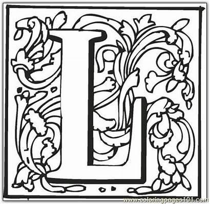 Coloring Fancy Pages Letters Letter Alphabet Block