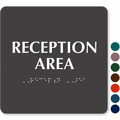Reception Area Braille Signs Tactile Touch Ada