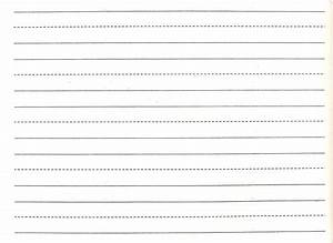 7 writing paper templates excel pdf formats With handwriting lines template