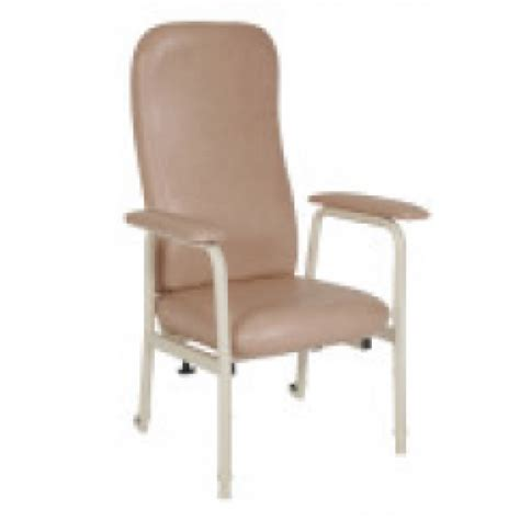 high back day chair vinyl chagne tilt and rear