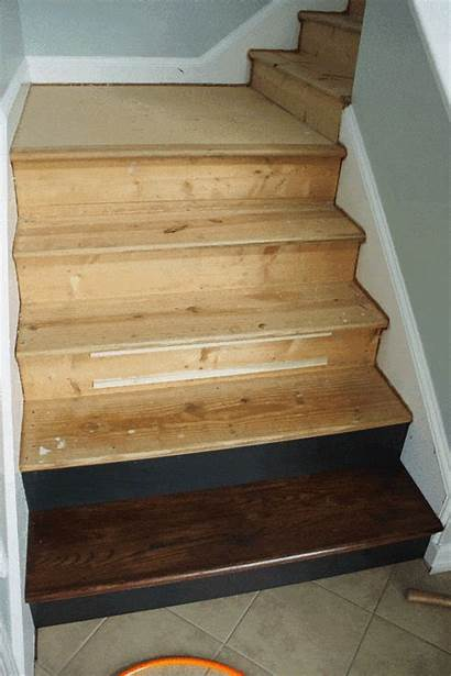 Staircase Diy Makeover Stairs Wood Install Carpet