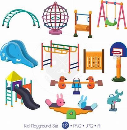 Playground Kid Clipart Toys Toy Digital Clip