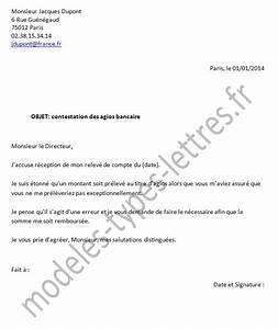 Contestation Fourriere Remboursement : modele lettre reclamation frais banque ~ Gottalentnigeria.com Avis de Voitures