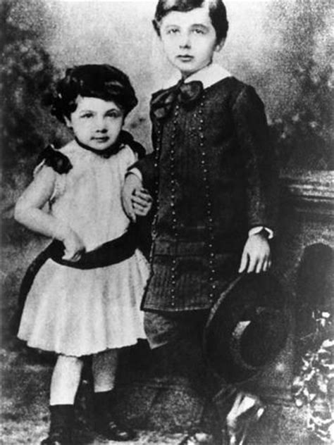 Albert Einstein, About Five Years Old, With His Younger