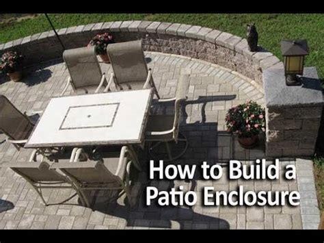How To Build A Patio how to build a patio enclosure with seating walls