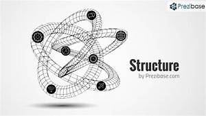 3d Structure Network Wireframe Shape Prezi Template