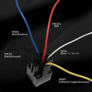5 Pack 5 Pin Spdt 30  40 Amps 12v Dc Automotive Waterproof Relay Wiring Harness Sets W