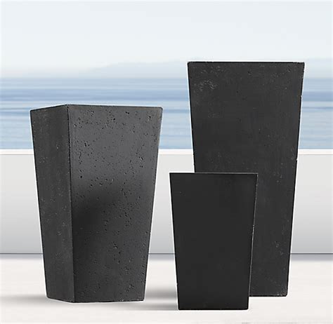 Weathered Cast Planters by Weathered Cast Tapered Planters