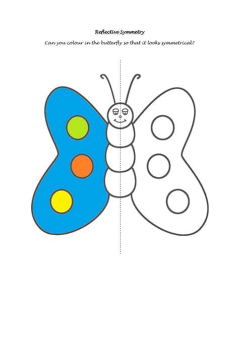 butterfly symmetry worksheet  missp teaching