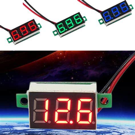 blue green dc 4 7 30v 0 36 2 wire led digital panel meter voltage voltmeter ebay