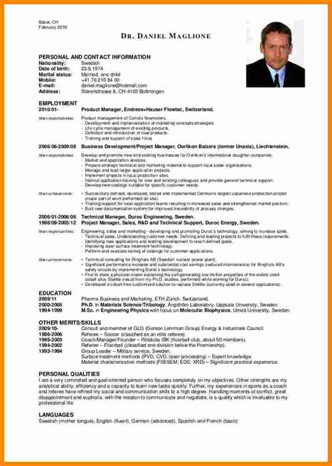 Cv Exles by 9 Cv Personal Attributes Theorynpractice