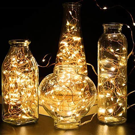 gdealer 4 pack lights string lights battery